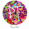 """12""""x12"""" Patterned Heat Transfer Vinyl - Peace Out"""