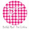 "12""x12"" Patterned Heat Transfer Vinyl - Buffalo Plaid - Pink/White"