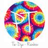"12""x12"" Permanent Patterned Vinyl - Tie Dye - Rainbow"