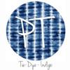 "12""x12"" Permanent Patterned Vinyl - Tie Dye - Indigo"