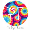 "12""x12"" Patterned Heat Transfer Vinyl - Tie Dye - Rainbow"
