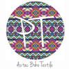 """12""""x12"""" Patterned Heat Transfer Vinyl - Aztec Boho Textile"""