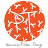 "12""x12"" Patterned Heat Transfer Vinyl - Awareness Ribbon - Orange"