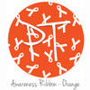"12""x12"" Permanent Patterned Vinyl - Awareness Ribbon - Orange"