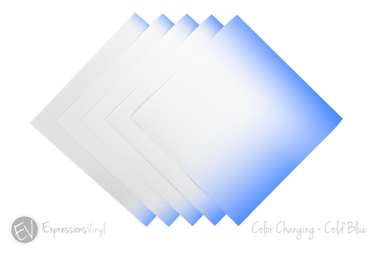 Color Changing Vinyl Cold Blue 12 X12 Sheet Expressions Vinyl