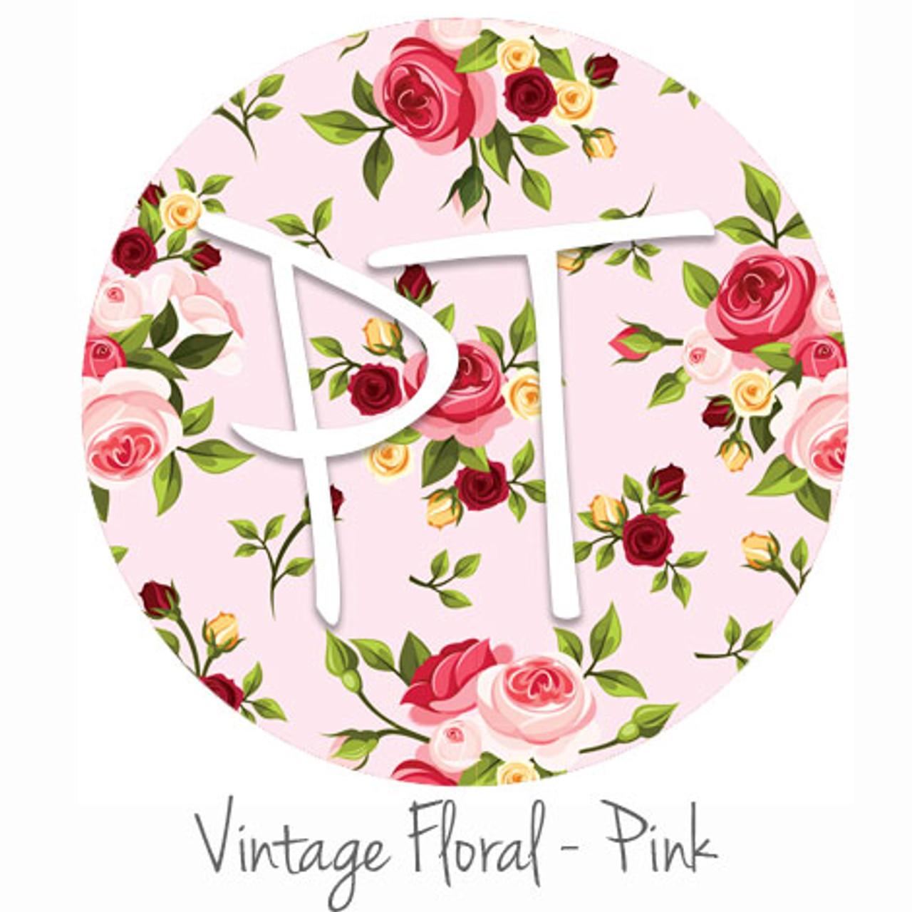 12 X12 Patterned Heat Transfer Vinyl Vintage Floral Pink
