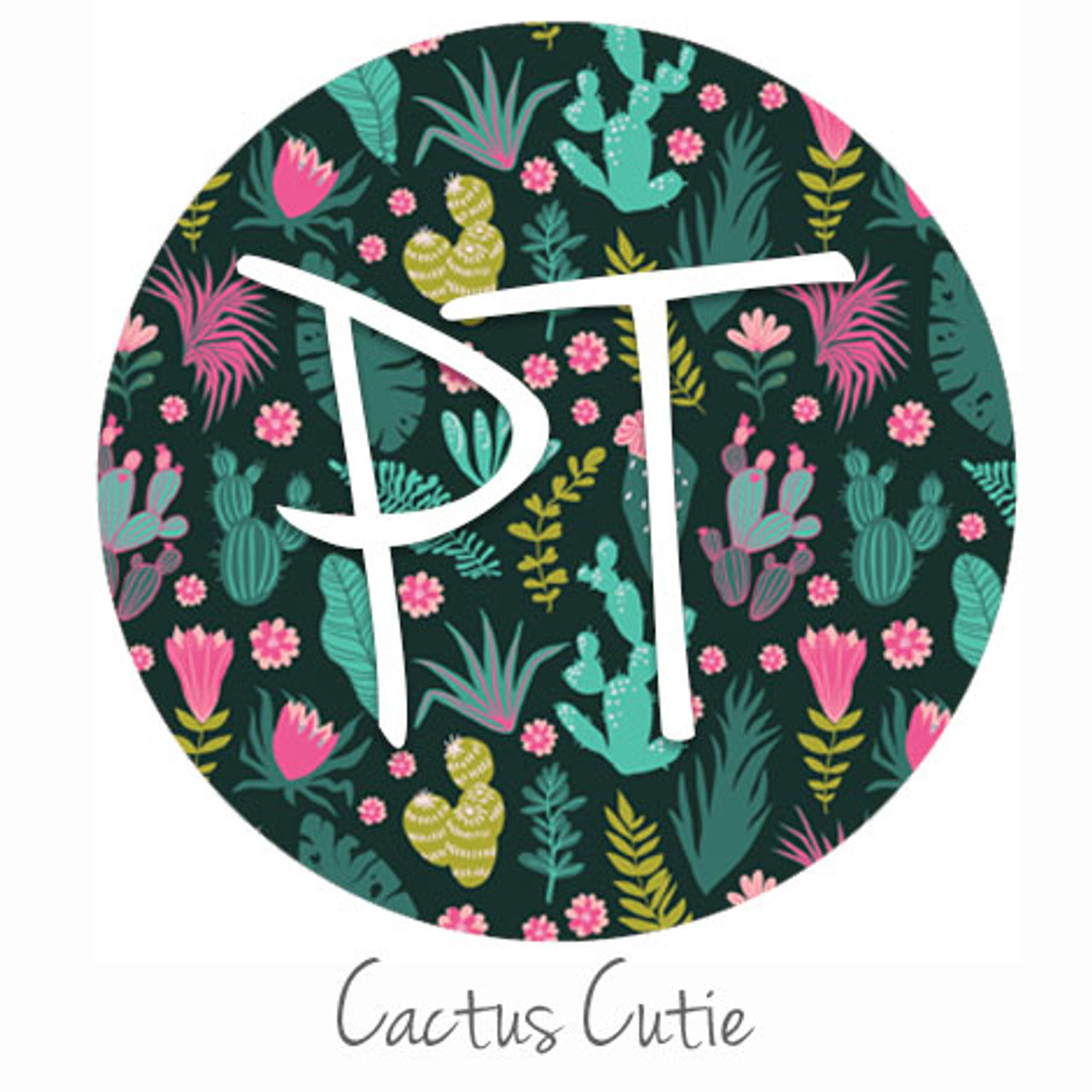 12 X12 Patterned Heat Transfer Vinyl Cactus Cutie Expressions Vinyl