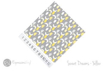 "12""x12"" Permanent Patterned Vinyl - Sweet Dreams - Yellow"