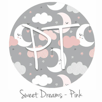 "12""x12"" Permanent Patterned Vinyl - Sweet Dreams - Pink"