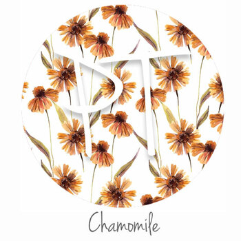 """12""""x12"""" Permanent Patterned Vinyl Swatch- Chamomile"""
