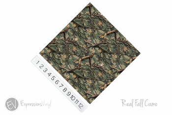 """12""""x12"""" Permanent Patterned Vinyl - Real Fall Camo"""