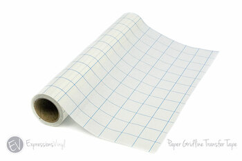 "Gridlined Paper Transfer Tape - 12""x30' Roll (Blue 1"" Grid)"