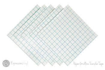 Gridlined Paper Transfer Tape Sheet