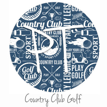 "12""x12"" Permanent Patterned Vinyl - Country Club Golf"