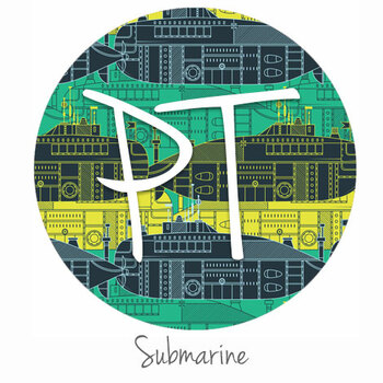 "12""x12"" Patterned Heat Transfer Vinyl - Submarine"