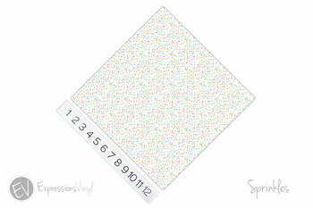 "12""x12"" Patterned Heat Transfer Vinyl - Sprinkles"