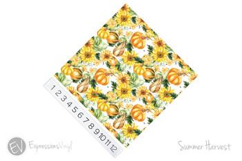 """12""""x12"""" Patterned Heat Transfer Vinyl - Summer Harvest"""