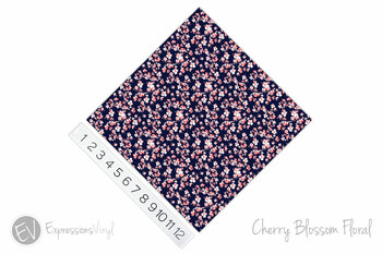 "12""x12"" Permanent Patterned Vinyl - Cherry Blossom Floral"