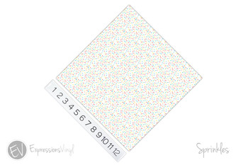 "12""x12"" Permanent Patterned Vinyl - Sprinkles"