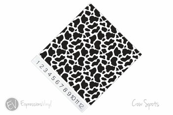"12""x12"" Permanent Patterned Vinyl - Cow Spots"