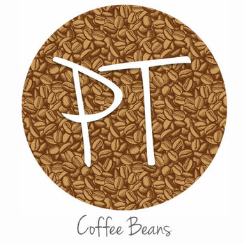 "12""x12"" Permanent Patterned Vinyl - Coffee Beans"