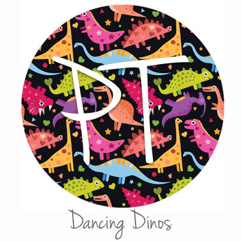 "12""x12"" Permanent Patterned Vinyl - Dancing Dinos"