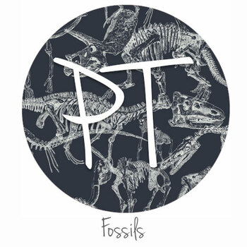 "12""x12"" Permanent Patterned Vinyl - Fossils"