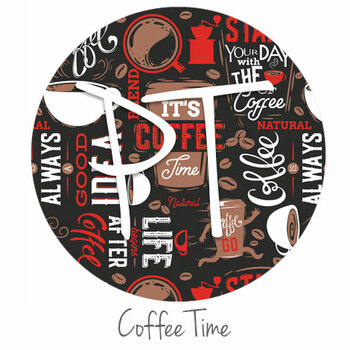 "12""x12"" Patterned Heat Transfer Vinyl - Coffee Time"