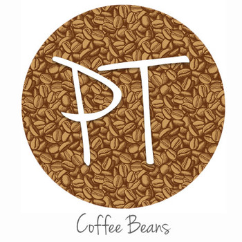 "12""x12"" Patterned Heat Transfer Vinyl - Coffee Beans"