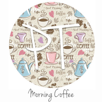 "12""x12"" Patterned Heat Transfer Vinyl - Morning Coffee"