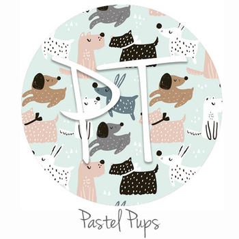 "12""x12"" Patterned Heat Transfer Vinyl - Pastel Pups"
