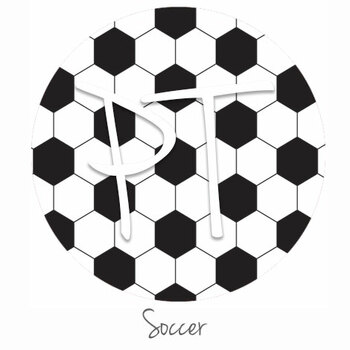 "12""x12"" Patterned Heat Transfer Vinyl - Soccer"
