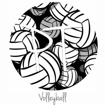 "12""x12"" Patterned Heat Transfer Vinyl - Volleyball"