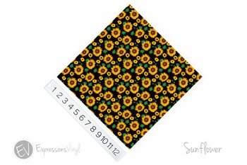 "12""x12"" Patterned Heat Transfer Vinyl - Sunflowers"