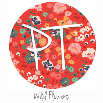 "12""x12"" Patterned Heat Transfer Vinyl - Wild Flowers"