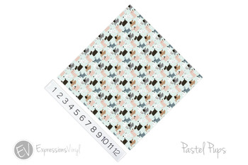"12""x12"" Permanent Patterned Vinyl - Pastel Pups"