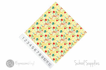 "12""x12"" Permanent Patterned Vinyl - School Supplies"