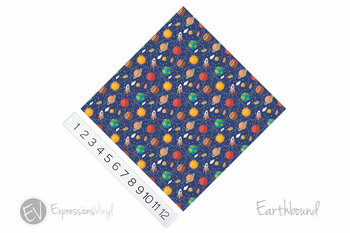 "12""x12"" Permanent Patterned Vinyl - Earthbound"