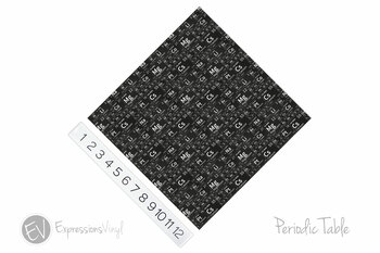 "12""x12"" Permanent Patterned Vinyl - Periodic Table"