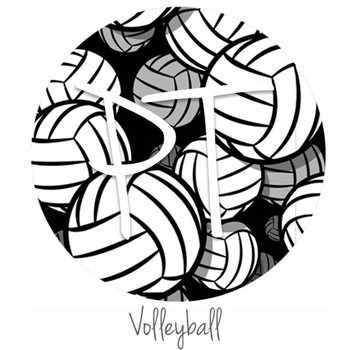 "12""x12"" Permanent Patterned Vinyl - Volleyball"