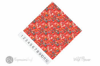 "12""x12"" Permanent Patterned Vinyl - Wild Flowers"