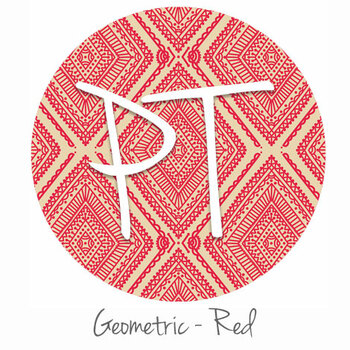 "12""x12"" Permanent Patterned Vinyl -Geometric - Red"