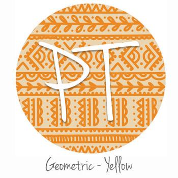 "12""x12"" Permanent Patterned Vinyl -Geometric - Yellow"