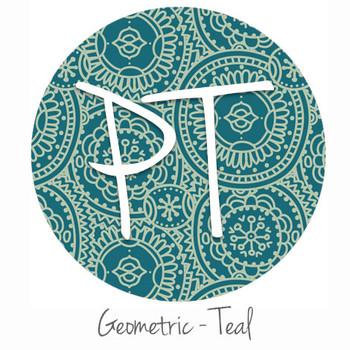 "12""x12"" Patterned Heat Transfer Vinyl - Geometric - Teal"