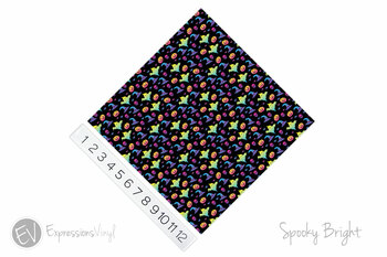 "12""x12"" Permanent Patterned Vinyl - Spooky Bright"