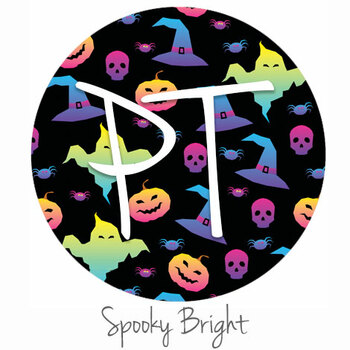 "12""x12"" Patterned Heat Transfer Vinyl - Spooky Bright"
