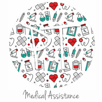 "12""x12"" Permanent Patterned Vinyl - Medical Assistance"
