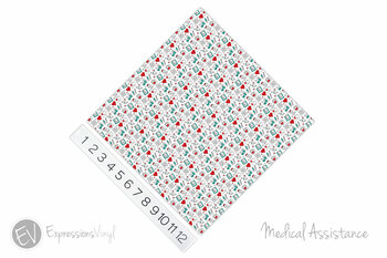 "12""x12"" Permanent Patterned Vinyl - Medical Assistance"