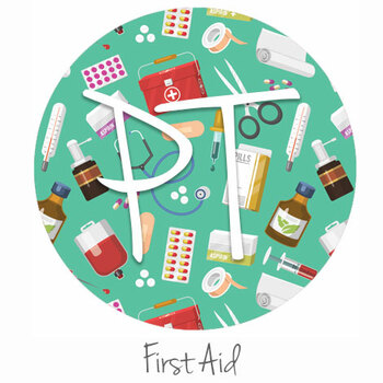 """12""""x12"""" Patterned Heat Transfer Vinyl - First Aid"""