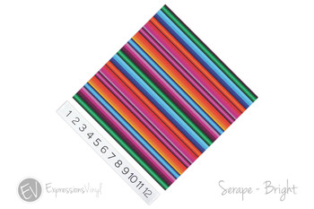"12""x12"" Permanent Patterned Vinyl - Serape Blanket - Bright"